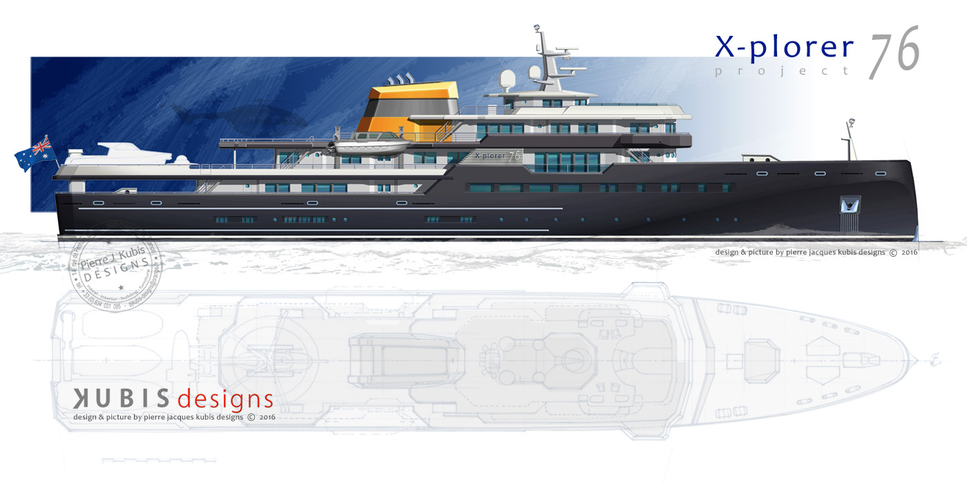 A new explorer M/v project, the X-plorer 76 - 250' in design (...)