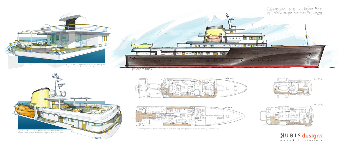 250' Exploration ship project - Basic design & first styling (...)