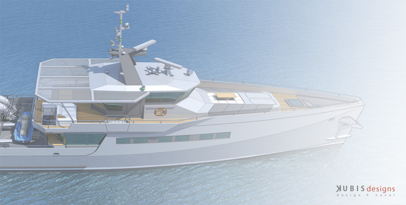 117' M/y conversion project - Decks arrang. & external styling by (...)